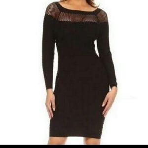 Black Textured Bodyshape Dress
